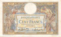 France 100 Francs Luc Olivier Merson - sans LOM - 26-12-1922 Série Z.8827 - TTB