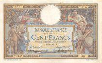 France 100 Francs Luc Olivier Merson - sans LOM - 29-06-1921 Série T.7757 - TTB