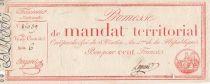 France 100 Francs Mandat Territorial avec série - 28 Ventose An IV (18.03.1796) - TB+