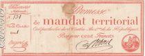 France 100 Francs Mandat Territorial avec série - 28 Ventose An IV (18.03.1796) - TB+ Série 1