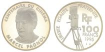 France 100 Francs Marcel Pagnol - 100 years of Cinema - 1995 Proof