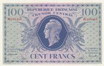 France 100 Francs Marian - 02-10-1943 Serial PG 788224 - P.105