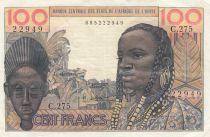 France 100 Francs mask 1959 - Serial C.275