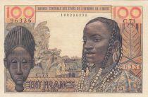 France 100 Francs mask 1959 - Serial C.73