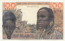 France 100 Francs mask 1959 - Serial W.275