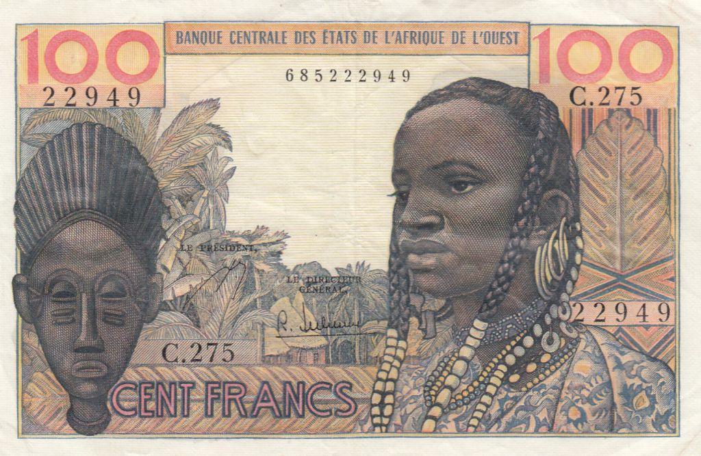 France 100 Francs masque 1959 - Série C.275