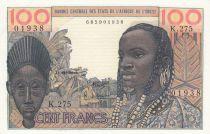 France 100 Francs masque 1959 - Série K.275