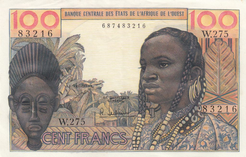 France 100 Francs masque 1959 - Série W.275