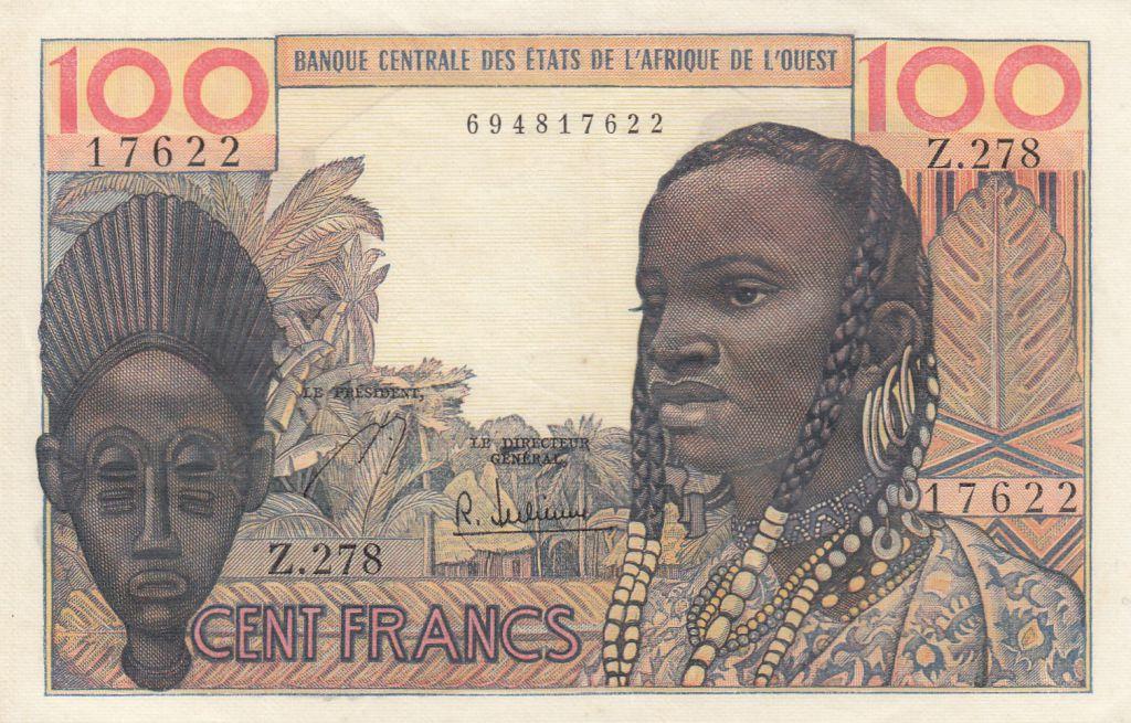 France 100 Francs masque 1959 - Série Z.278