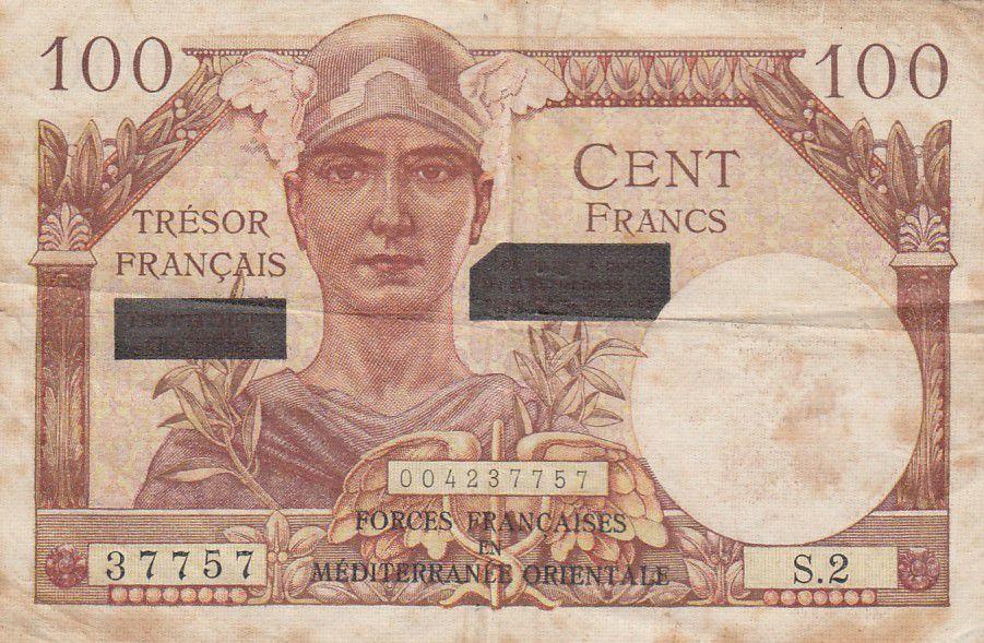 France 100 Francs Mercure - Suez - 1956 Série S.2