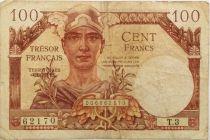 France 100 Francs Mercure, Trésor Français - 1947 - Série T.3 - TB