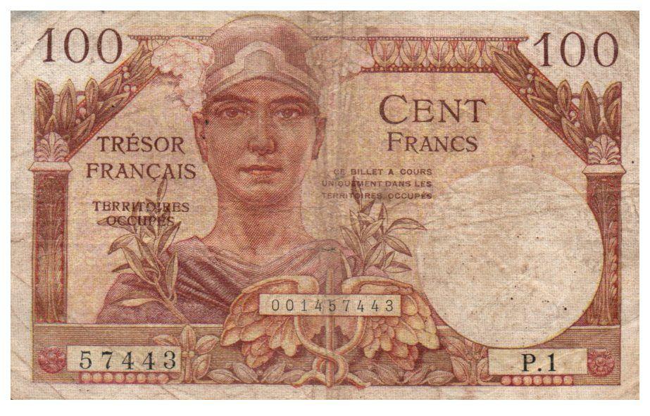 France 100 Francs Mercure, Trésor Public - 1947 - Série P.1 - TB