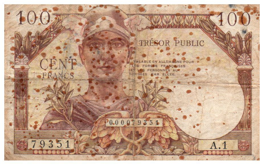 France 100 Francs Mercure, Trésor Public - 1955 - Série A.1 - TB