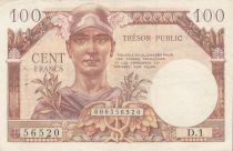 France 100 Francs Mercure, Trésor Public - 1955 - Série D.1 - TTB