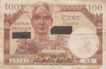 France 100 Francs Mercury - Suez issue - 1956 Serial S.2