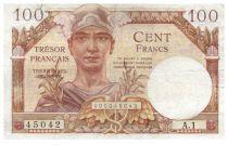 France 100 Francs Mercury, French Treasury - 1947 - Serial A.1 - F+