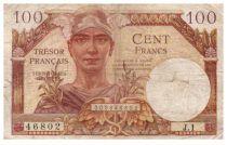 France 100 Francs Mercury, French Treasury - 1947 - Serial J.1 - F