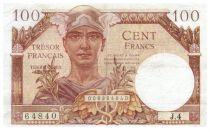 France 100 Francs Mercury, French Treasury - 1947 - Serial J.4 - F+