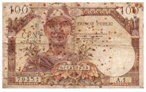 France 100 Francs Mercury, French Treasury - 1955 - Serial A.1 - F