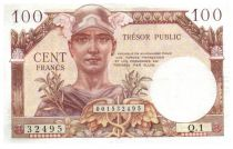 France 100 Francs Mercury, French Treasury - 1955 - Serial Q.1 - VF+