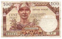 France 100 Francs Mercury, French Treasury - 1955 - Serial Y.1 - VF
