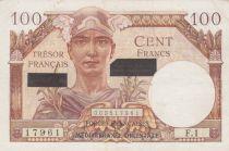 France 100 Francs Mercury, French Treasury - Suez 1956 - Serial F.1 - XF