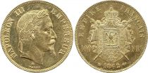 France 100 Francs Napoléon III - Tête laurée 1862 BB - Or