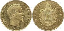 France 100 Francs Napoléon III - Tête nue - 1859 A Paris - Or