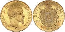 France 100 Francs Napoleon III Empereur - 1857 A - Gold