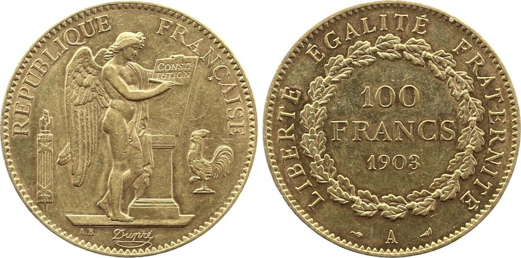 France 100 Francs Or Génie - 1903 A Paris