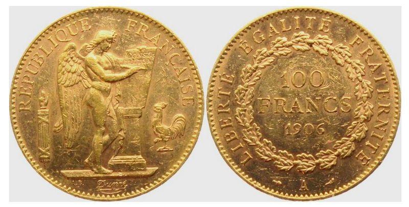 France 100 Francs Or Génie - 1906 A Paris