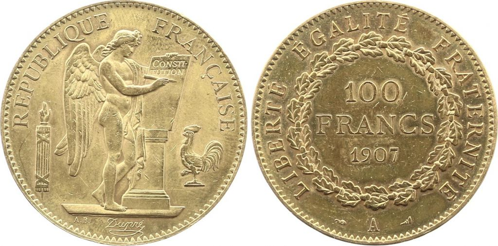 France 100 Francs Or Génie - 1907 A Paris