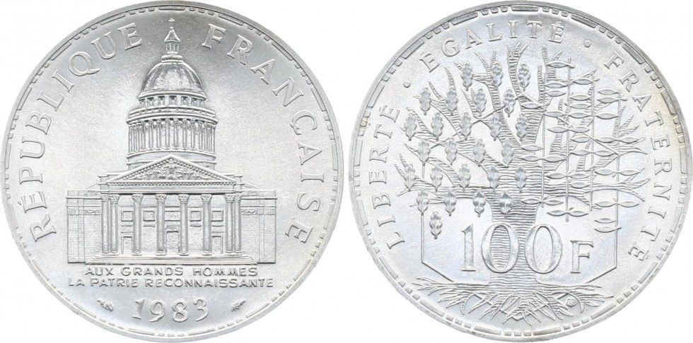 France 100 Francs Panthéon - 1983