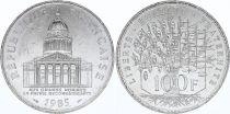 France 100 Francs Pantheon - 1985 XF to AU - Silver