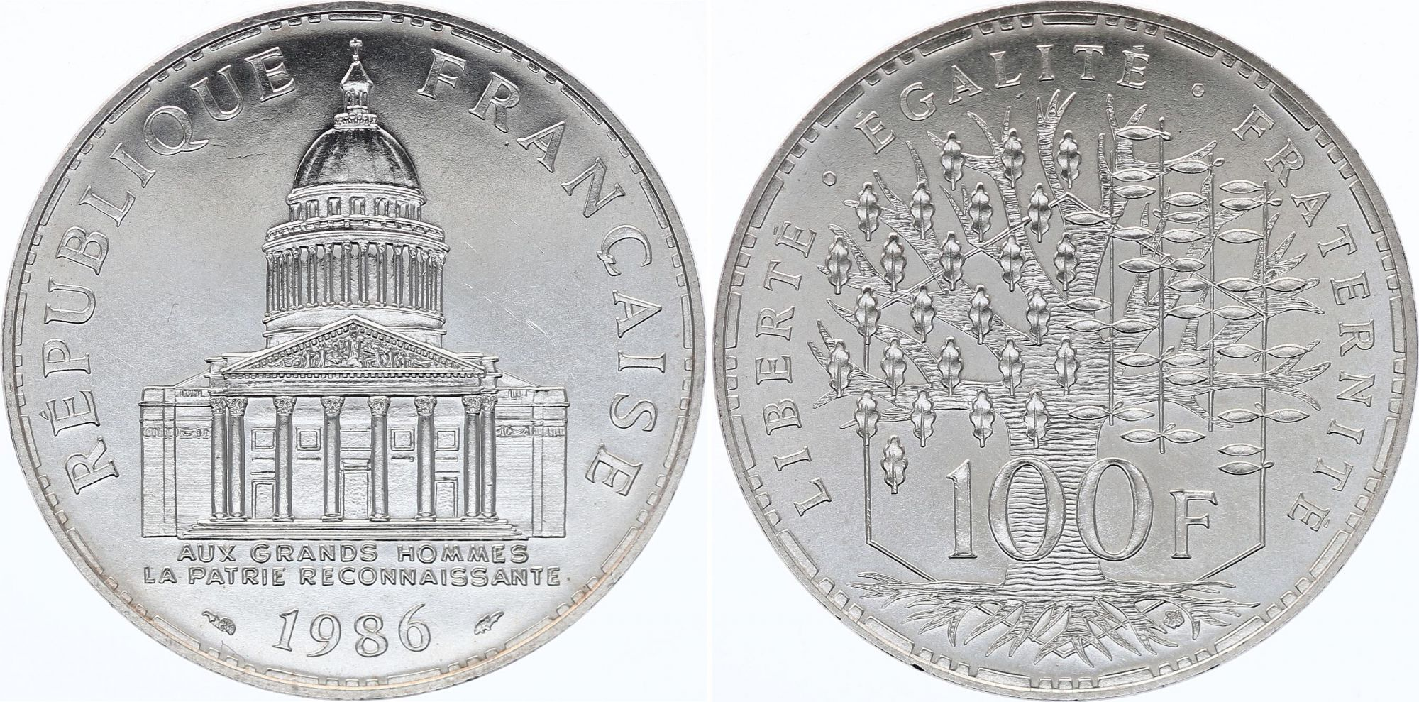 France 100 Francs Panthéon - 1986 - SPL - Argent