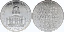France 100 Francs Pantheon - 1986 AU - Silver