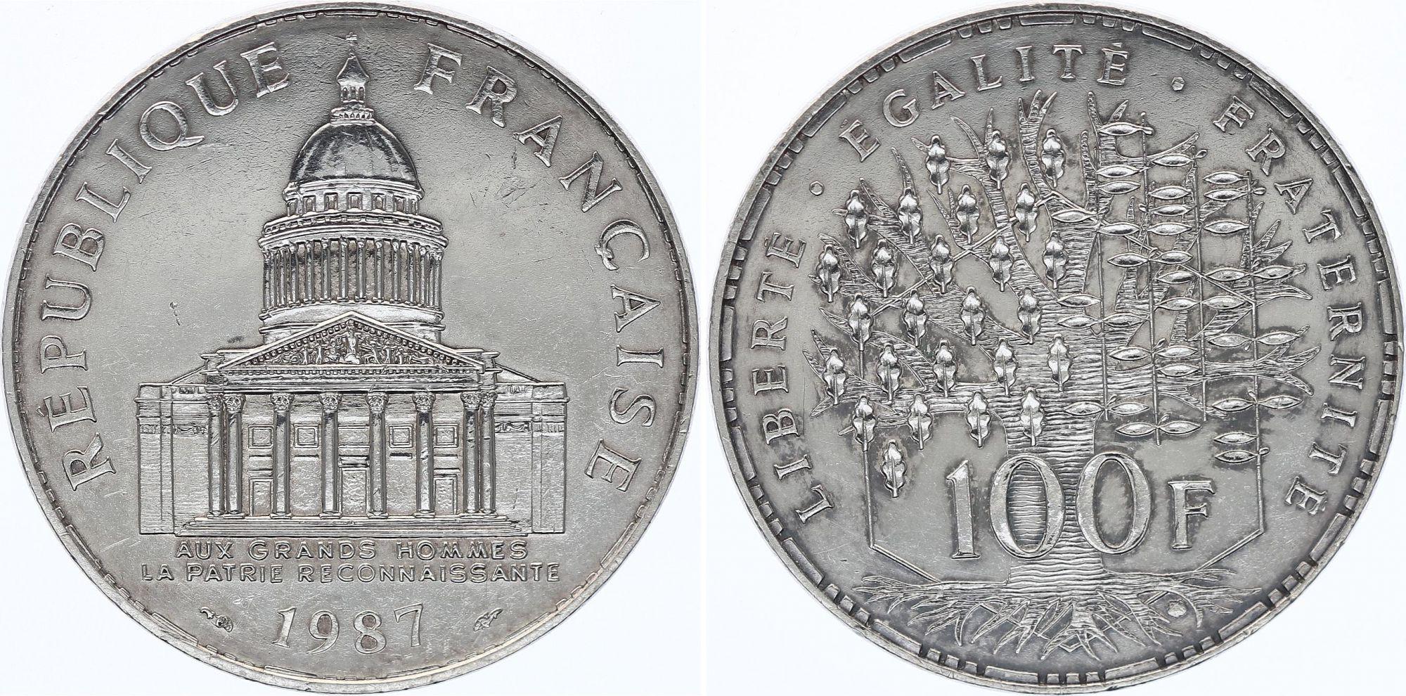 France 100 Francs Panthéon - 1987 - SUP - Argent