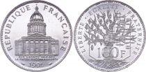France 100 Francs Pantheon - 1991 - UNC - Silver