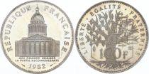 France 100 Francs Panthéon - Piefort 1982 - Argent - SUP - sans boite ni certificat
