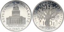 France 100 Francs Panthéon - Piefort 1983 - Argent - FDC