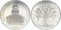 France 100 Francs Panthéon - Piefort 1983 - Argent - SUP - sans boite ni certificat