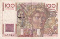 France 100 Francs Paysan - 02-10-1952 - Série X.497 - TTB
