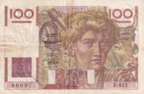 France 100 Francs Paysan - 02-11-1951 - Série D.413  - TTB