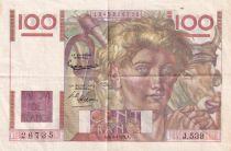 France 100 Francs Paysan - 04-06-1953 - Série J.539 - SUP