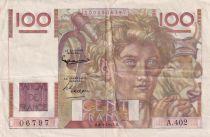 France 100 Francs Paysan - 06-09-1951 - Série A.402 - TTB+