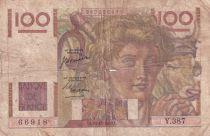 France 100 Francs Paysan - 16-11-1950 - Série Y.387 - TB