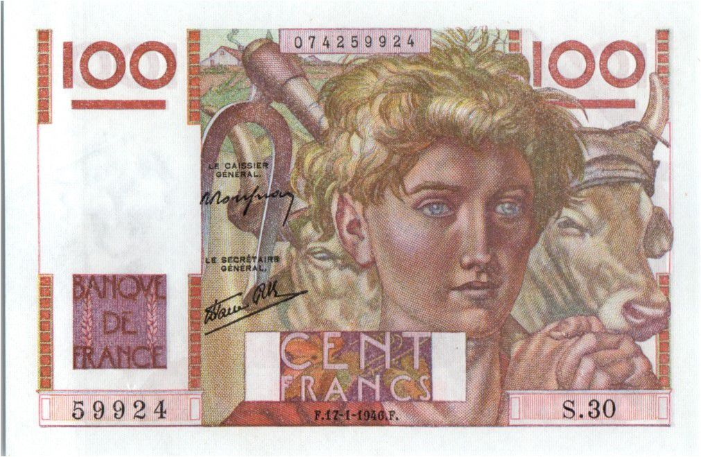 France 100 Francs Paysan - 17-01-1946 - Série S.30
