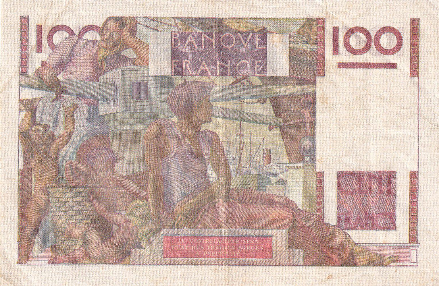 France 100 Francs Paysan - 19-05-1949 - Série T.351 - TTB+