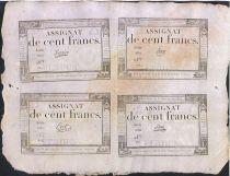 France 100 Francs Planche 4 x 100F 18 Nivose An III