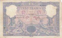France 100 Francs Rose et Bleu - 02-03-1905 Série K.4296 - TB